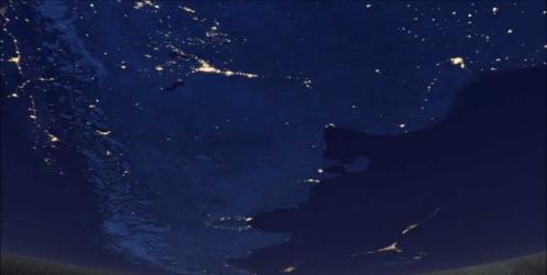 Dünya geceleri uzaydan nasıl gözükür?