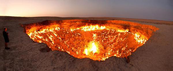 Türkmenistan'da bir Doğalgaz Kuyusu Cehennem Kapısı