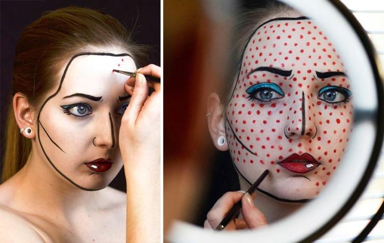 Canı Sıkıldıkça Yüzünü Boyayan Kızın 17 İlginç Fotoğrafı