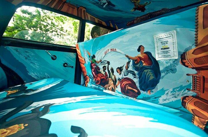 Mumbai Taksilerinin Renkli İç Açan İç Tasarımları
